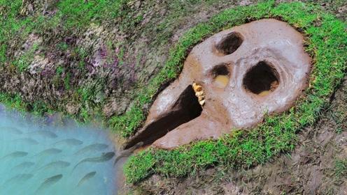 """男子河边挖出""""骷髅头"""",竟是用来捕鱼?几分钟后收获颇丰!"""