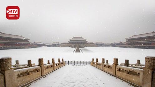 """网友在线""""蹲守""""故宫自拍照 5毛特效让雪花再飘一会儿"""
