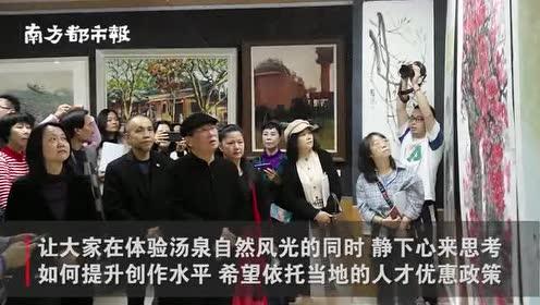著名画家许钦松结缘惠州,在苏东坡曾留足迹的汤泉之畔挥毫