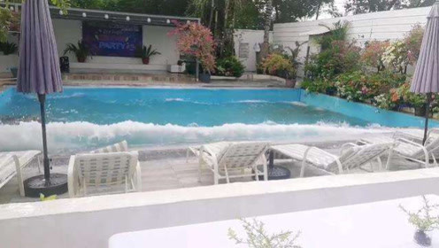 现场!菲律宾南部6.9级地震已致4人死亡 游泳池水剧烈晃动