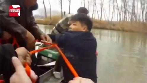 惊魂10分钟!6岁女童随车沉入河中,几十人拔河式拽绳救起