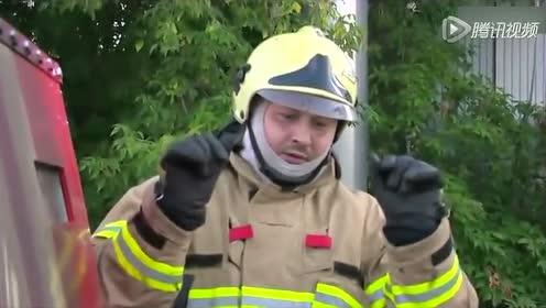 消防水管 火焰喷射器上演冰人与霹雳火的pk