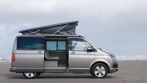 灰色奢华大众旅行车 车顶帐篷一键支起
