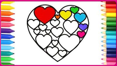 彩绘画巧克力爱心包装盒 彩虹爱心礼物盒 小猪佩奇 熊出没