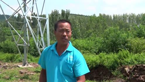 费县村民发现自家田地突然建上大铁塔