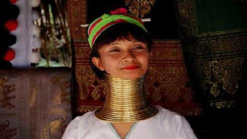 """残酷的美:缅甸""""长颈族""""5岁戴上铜环,一生只取下三次!"""