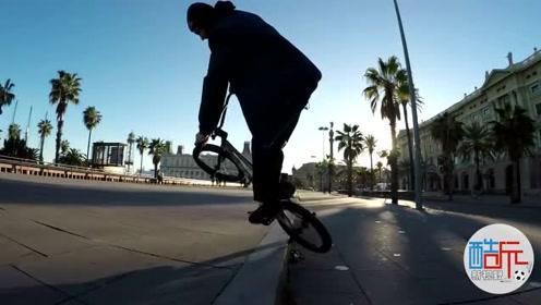 国外高手街头BMX秀技,这样的技术可以评定几颗星呢?