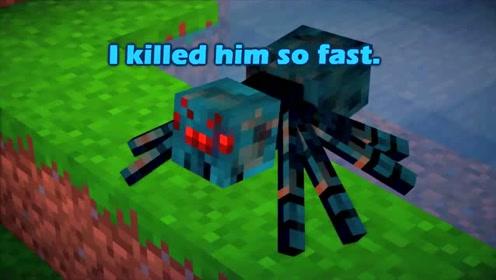 洞穴蜘蛛与常规蜘蛛的较量 我的世界搞笑动画 青之巅