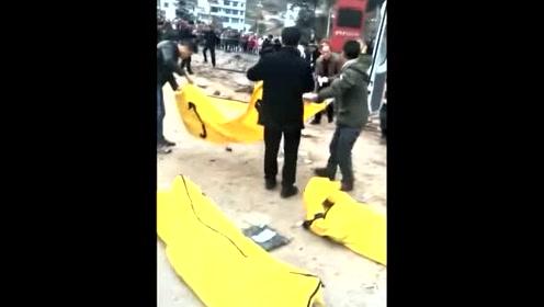 罐车失控撞倒行人后再压扁越野车 致5人死亡8人受伤