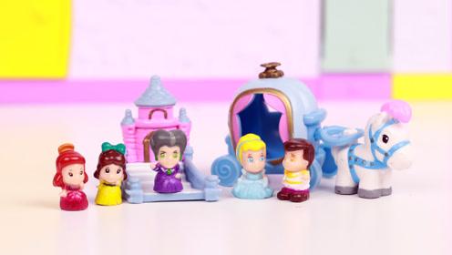 灰姑娘仙度瑞拉小可爱扭蛋分享 squinkies迪士尼公主玩具开箱