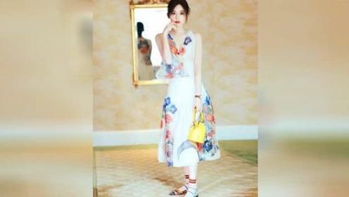 这件连衣裙与妖艳款不同 娜扎穿上它化身花仙子