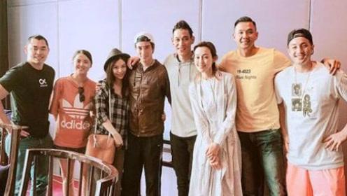王力宏夫妇和黑人夫妇聚会,才宣布怀孕没多久的李靓蕾太显怀了!