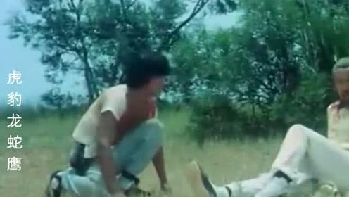 老头凭着3招打败盟主要称霸武林,没想到却被小伙子一脚踢中毙命