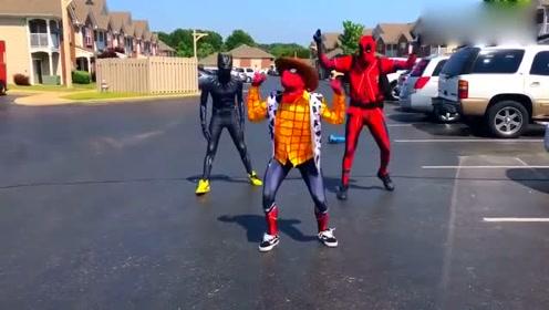 跳街舞的蜘蛛们,好逗