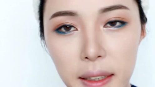 get刘人语同款蓝色眼妆 《创造101》女孩绝不认输
