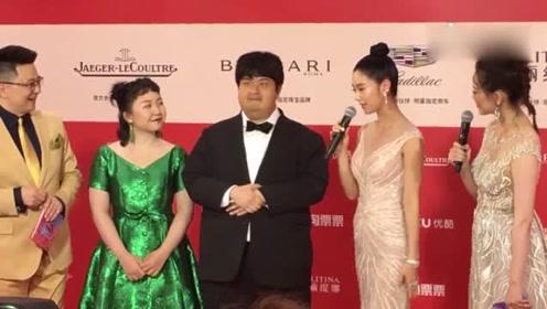 295斤的包贝尔现身上海金爵奖红毯 网友:该减肥了胖子