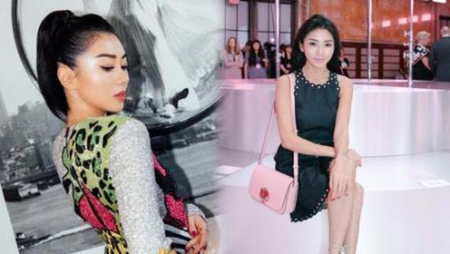 程晓玥纽约时装周连看四场大秀 造型百变夺人眼球