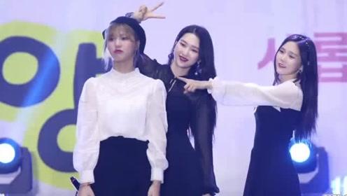 韩国女子团体OHMYGIRL现场版《Je t'aime》,黑衣小姐姐很迷人哦