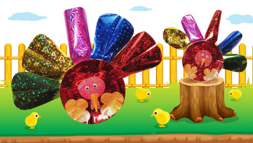 创意手工diy:纸盘彩纸制作大红公鸡,亮闪闪的动物可爱又好玩