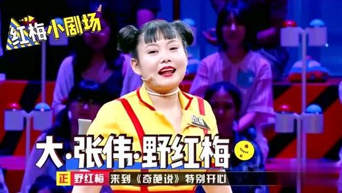 蔡康永让野红梅模仿大张伟,全场观众拍掌叫好,厉害了我的姐!