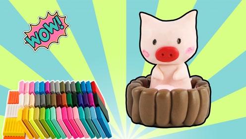 软陶制作可爱的小粉猪 手工软陶教学