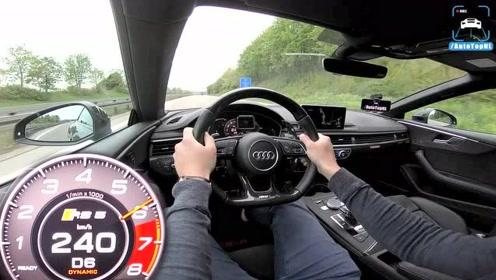 奥迪RS5 R ABT 开上高速,踩下地板油瞬间,还要啥宝马M4?