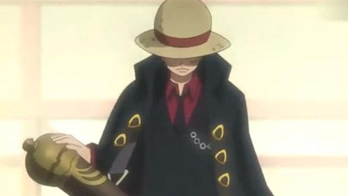 海贼王:路飞穿着黑风衣帅气登场,路飞都被自己帅到了