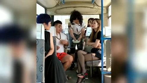 公交车囧事!美女,大哥懵圈了