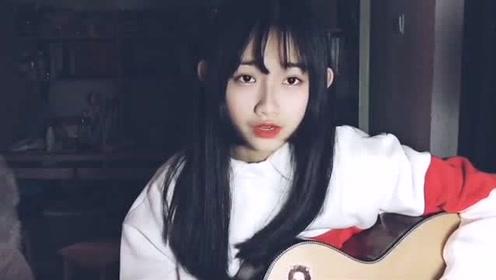 美女吉他弹唱最近很火的电音曲目《溯》,天籁之音,超好听!