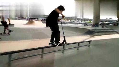 世界顶尖滑板车选手超酷极限运动