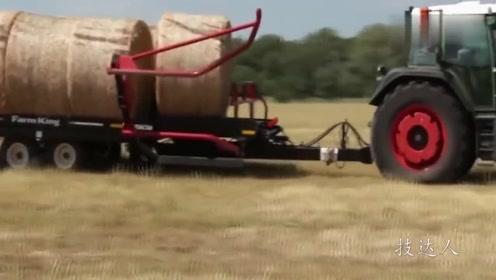 难怪美国粮食出口世界第一 几百个人干的活一台机器搞定