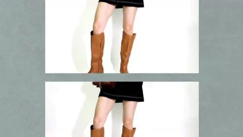 棕色高跟鞋,尽显娴熟风范
