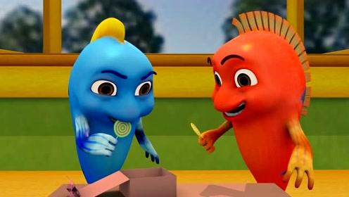 跳跳鱼世界4 第22集看点 美味的棒棒糖,菲乐吃到停不下来!