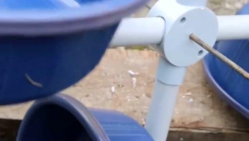 高手都在民间,自制一台简易风力发电机,这下能省不少钱