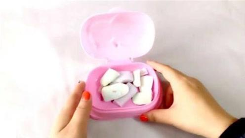 用剩下的小肥皂头老婆从来不扔,都把它们装进废旧丝袜里,超实用
