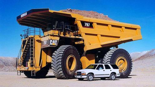 世界上最牛的卡车,一个轮胎能换一辆跑车,一天油费8万块!