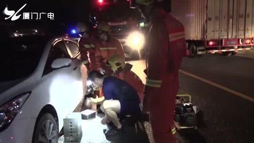 渣土车刮碰电动车 骑车男子被压身亡