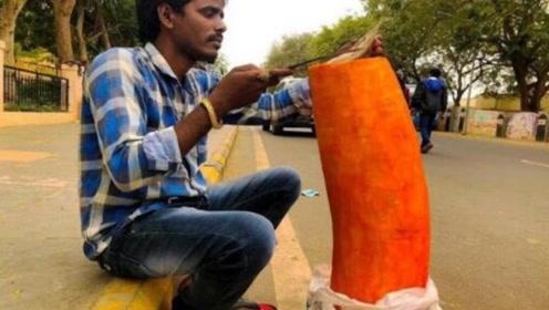 印度水果也开挂!一个就有100斤重,想吃完它需要100多人