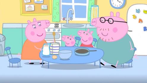 小猪佩奇看猪妈妈每天做饭很辛苦 小猪佩奇也想学做饭 玩具故事