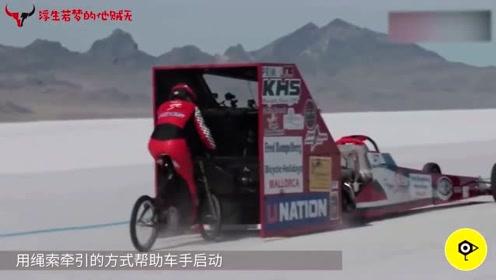 世界上最快的女自行车骑手,时速296公里,这腿估计是假的