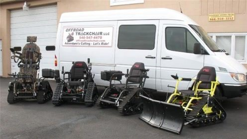 轮椅变成坦克,翻山越岭不在话下,灵活性碾压坦克