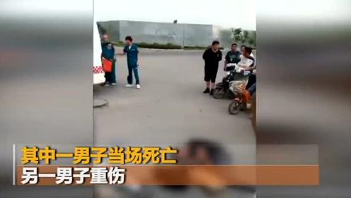 河南郑州2男子街头行走被雷劈 1死1重伤