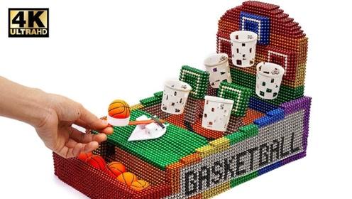 手工DIY创意:大神用巴克球制作篮球板游戏