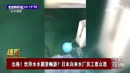 出格!饮用水水箱里畅游?日本自来水厂员工惹众怒