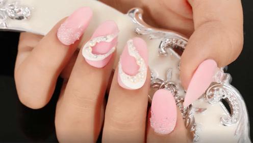 粉色系清新甜美爱心美甲 甜甜的女孩一定要拥有