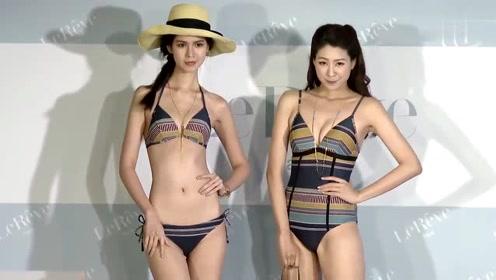 亚洲姑娘比基尼走秀, 最后压轴的白纱妹子,美翻了
