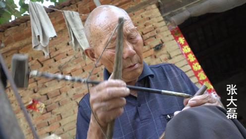 河南87岁老人制作即将消失的老物件,全河南不超过3个人还会做