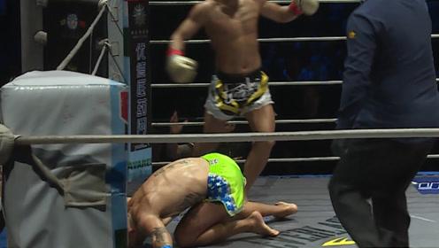 中国70KG重炮手拳有多狠?一记前手拳让巴西战神跪地昏死过去