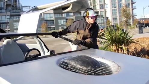 出租车司机花费五年, 自制水上汽车,  速度感人漂移太炫酷!