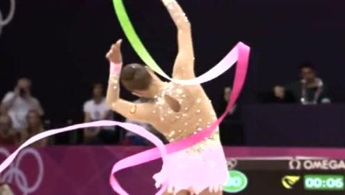 卡纳耶娃艺术体操全能之战带操表演,这么好身材怎么没男朋友呢?